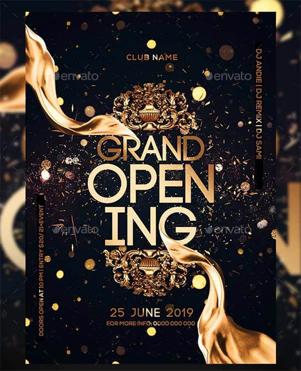 Grand Opening Party PSD Flyer