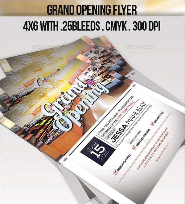 Grand Opening Printble Flyer Template