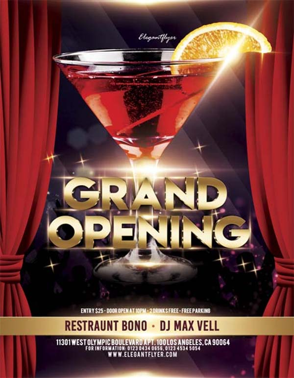 Grand PSD Opening Free Flyer Template