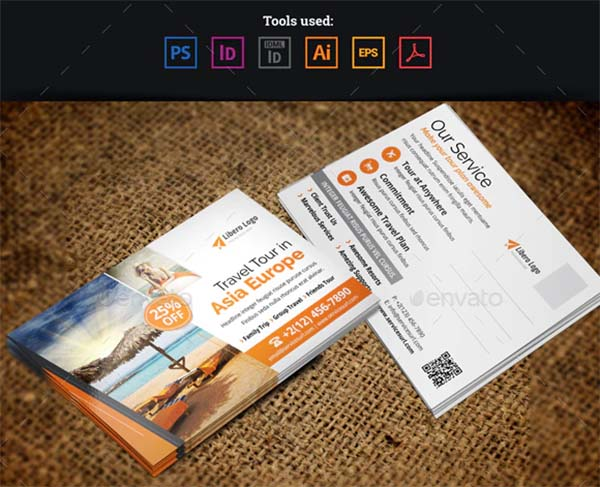 Holiday Travel Postcard Design