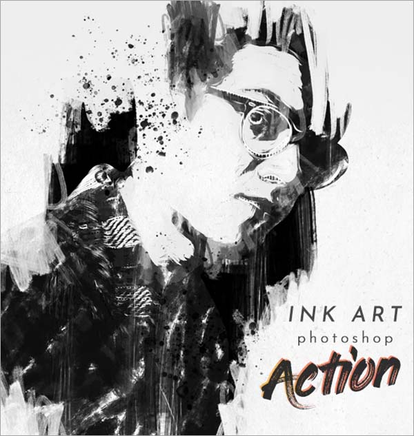 Ink Art Photoshop Action Template