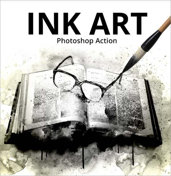 Ink Art Photoshop Action Design