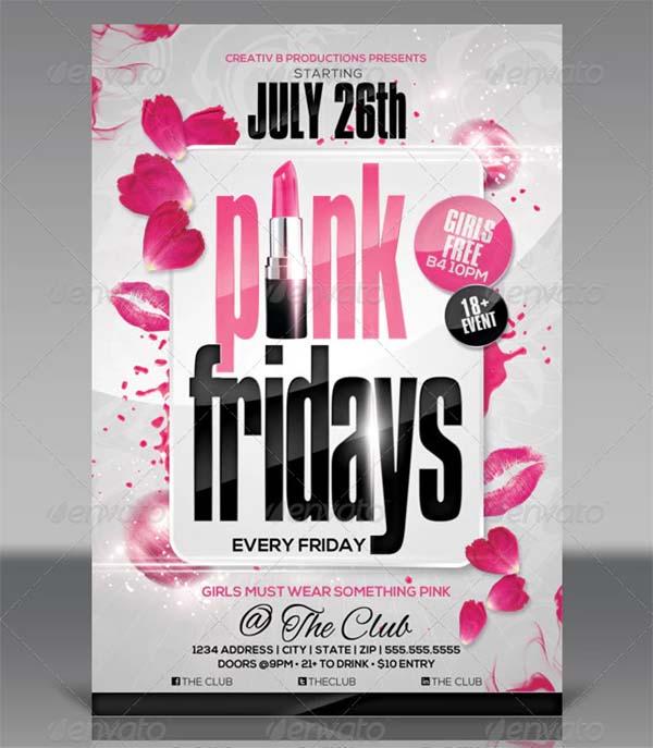 Kiss Fridays Party Flyer Templates