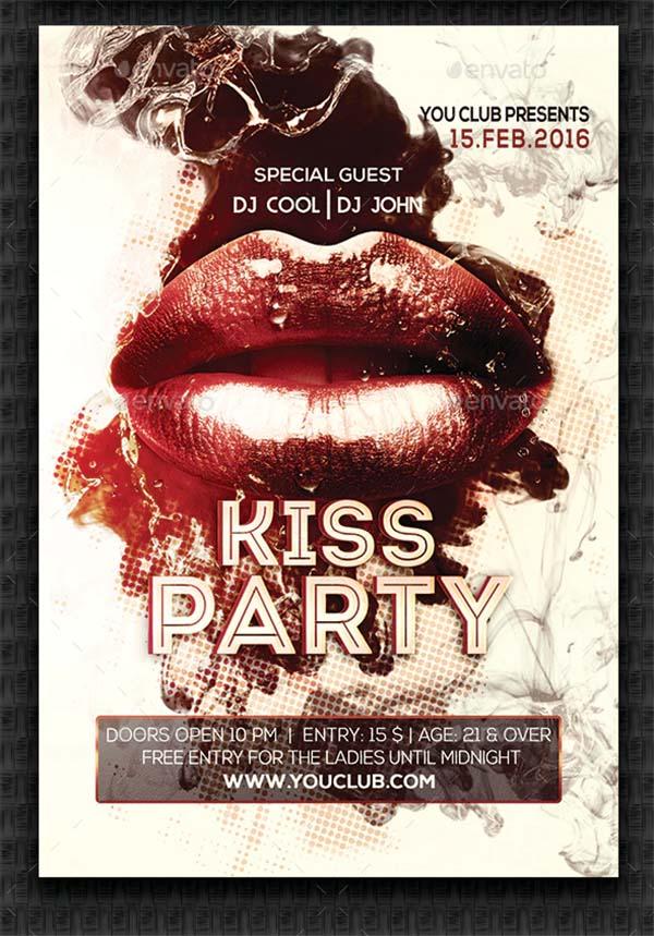 Kiss Party Design Flyer