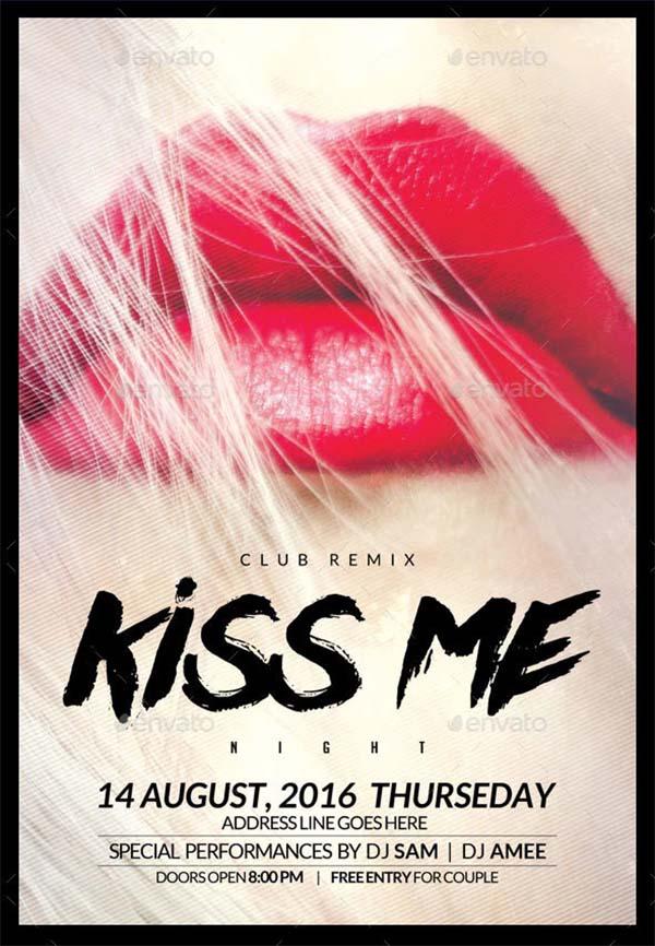Kiss Party Flyer Design