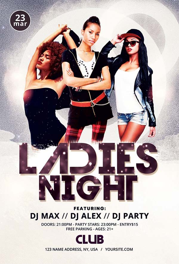 Ladies Night PSD Free Flyer Template