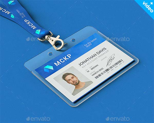 Lanyard and Name Tag Badge MockUp