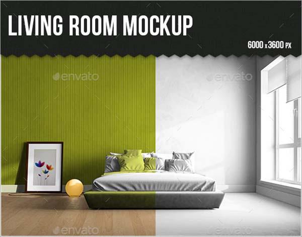 Living Room PSD Mock-up