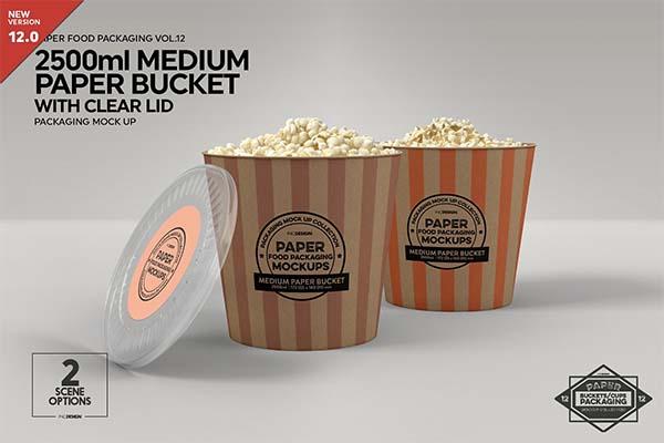 Medium Paper Bucket Mockup