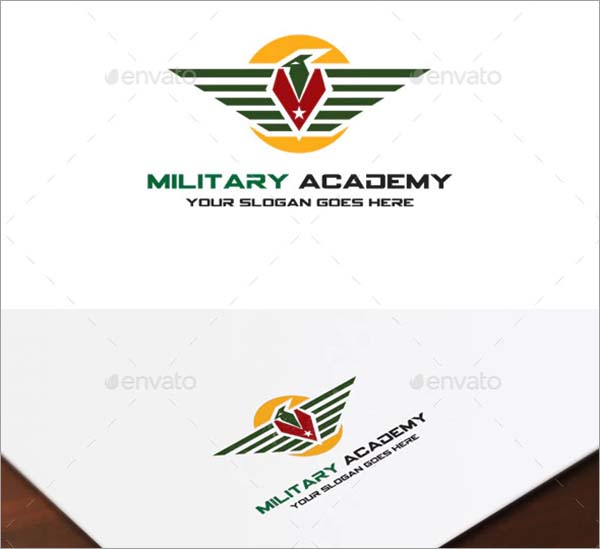 Military Academy Logo Design