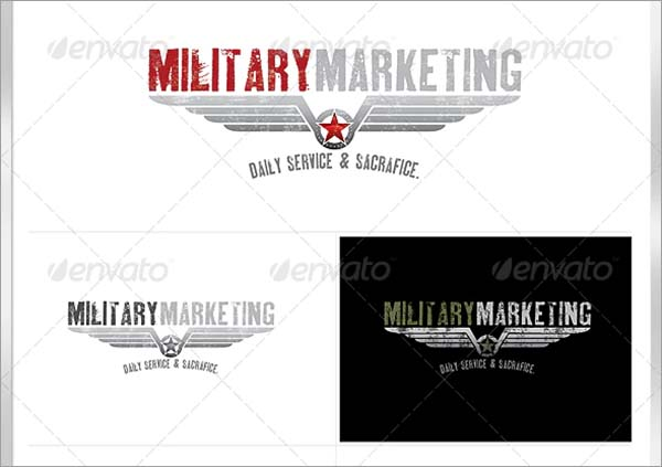 Military Crest Logo Design PSD