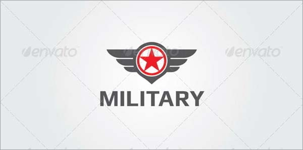 Military Logo PSD Design