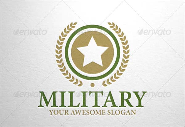 Military Logo PSD Template