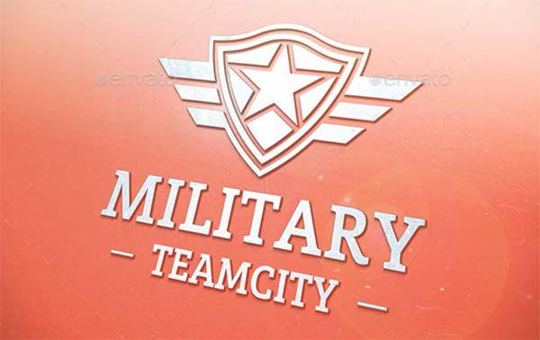 Military Shield Logo Design