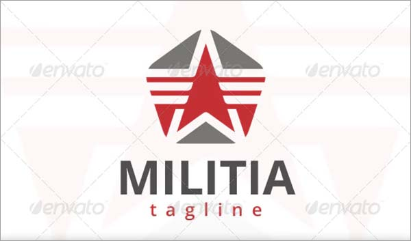 Military Star Logo Design