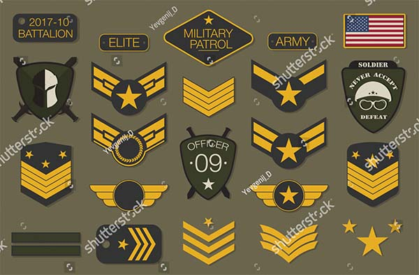 Military Typography Vector Logo Design