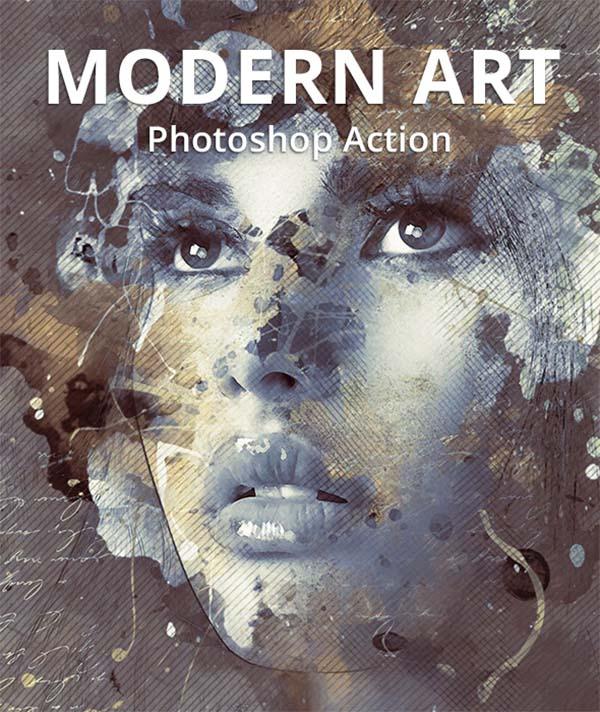 Modern Art Photoshop Action File