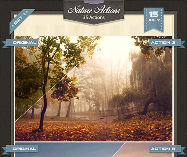 Nature Photoshop Actions Bundle