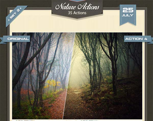 Photoshop Actions Nature Set Design