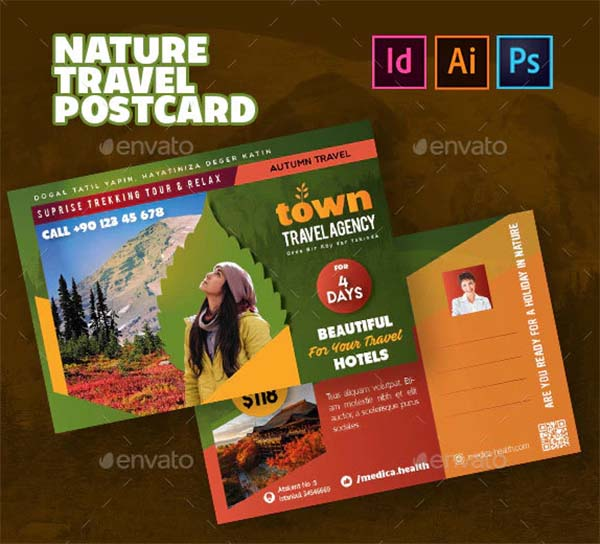 Nature Travel Postcard Templates
