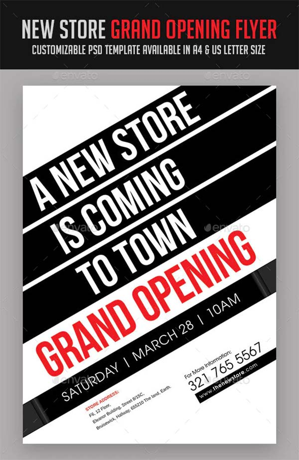 New Store Grand Opening Flyer Template