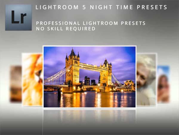 Night Time Lightroom Presets