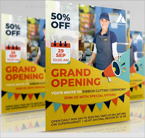 PSD Grand Opening Flyer Template