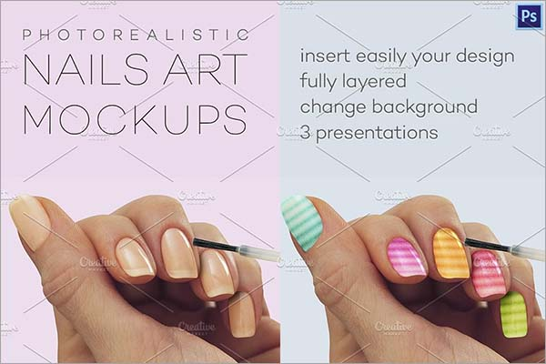 Photorealistic Nails Art Mockups