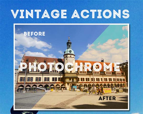 Photoshop Vintage Actions Set