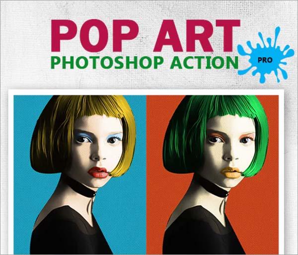 Pop Art Photoshop Action PRO