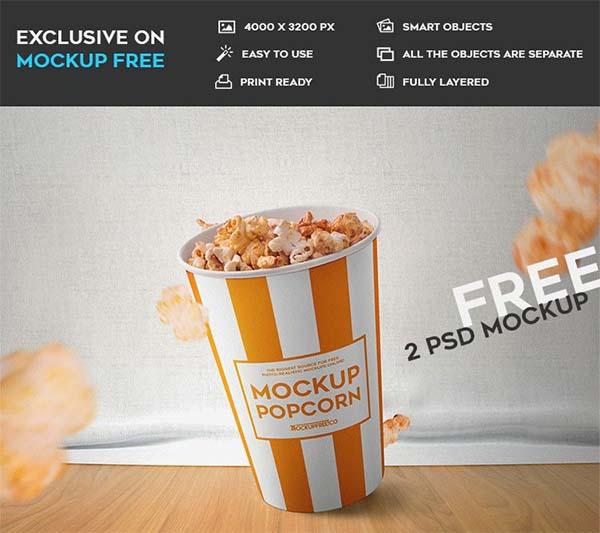 Popcorn Free PSD Mockups