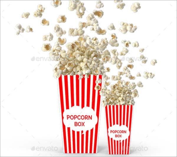 Popcorn Mockup With Box