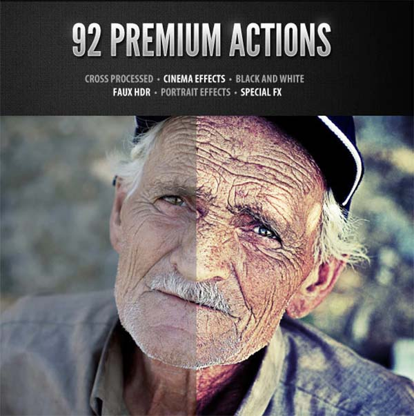 Premium Photoshop Design Actions Set