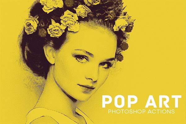 Pop Art Print Photoshop Actions