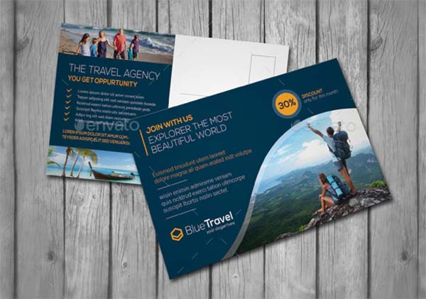 Print Travel Postcard Template