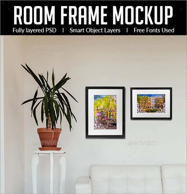 Room Frame Mockup PSD Design