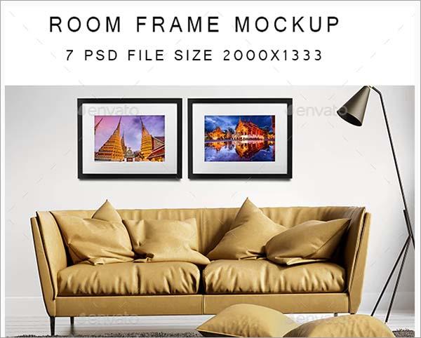 Room Frame Mockup PSD