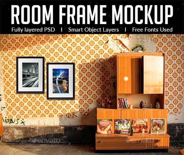 Room Frame PSD Mockup