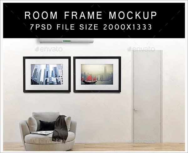 Room Frame PSD Mockups Design