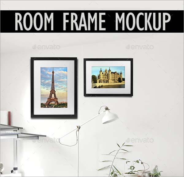 Room PSD Frame Mockup Design