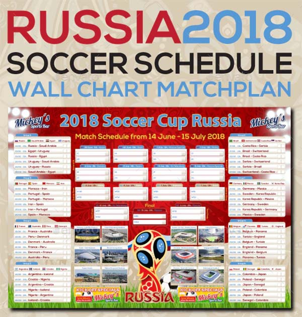 Russia Soccer Poster Templates