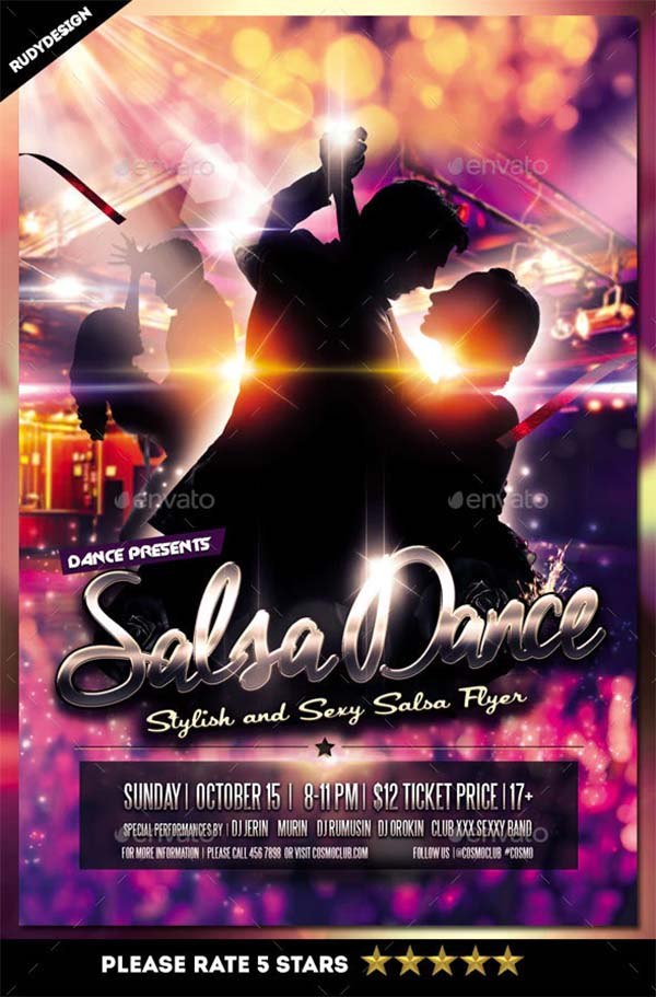 Salsa Dance Flyer Template