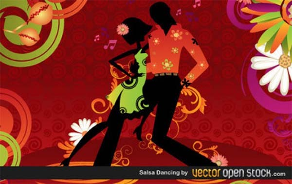 Salsa Dancing Free Vector Template