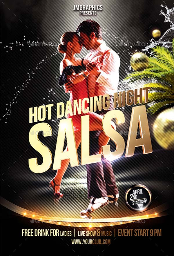 Salsa Flyer Print Template