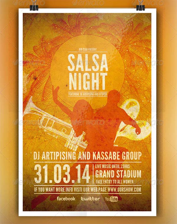 Salsa Night Flyer