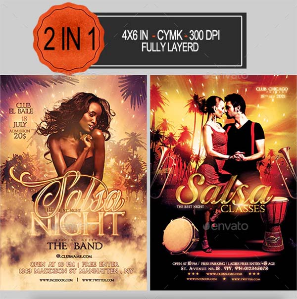Salsa Party Flyer Bundle