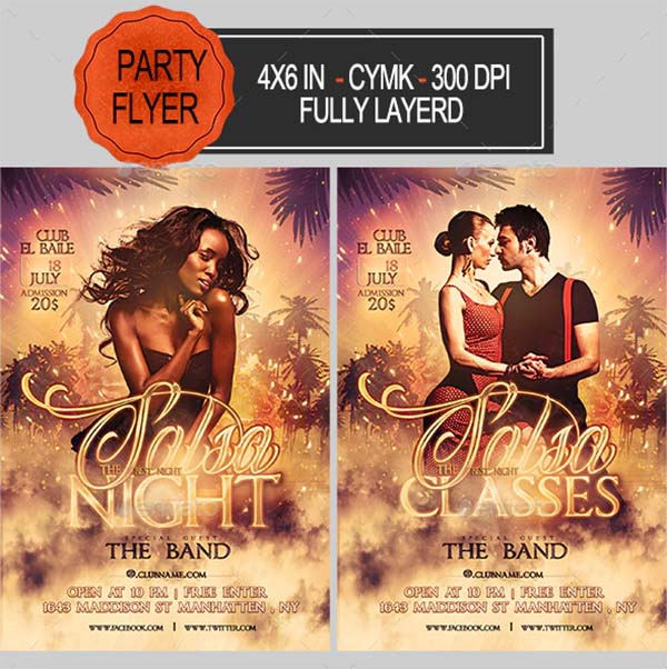 Salsa Party Flyer Template