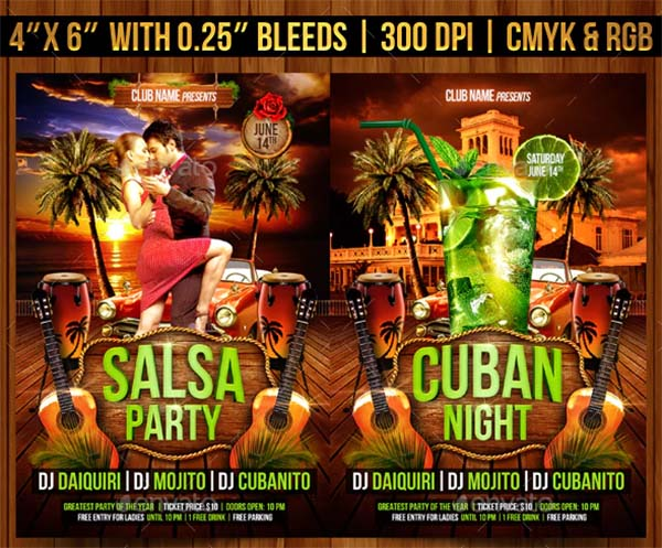 Salsa Party PSD Flyer Template