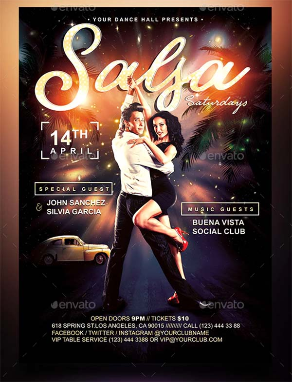 Salsa Saturdays Flyer Template