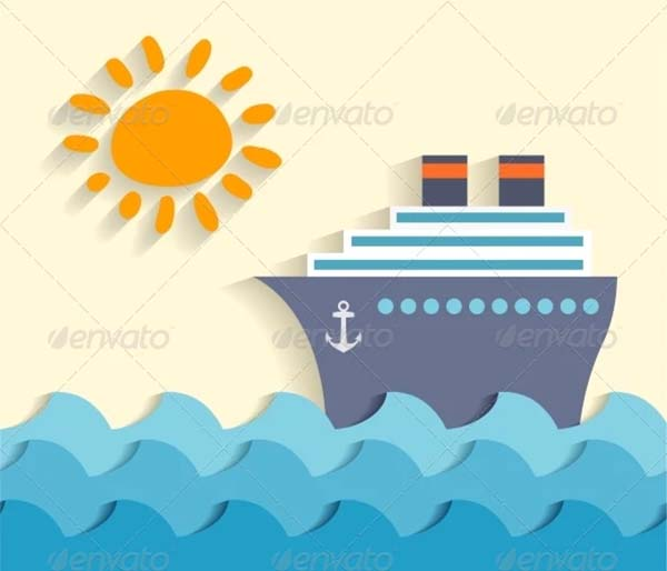 Sea Cartoon Poster Template